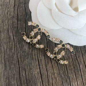 Chanel crystal stud earrings